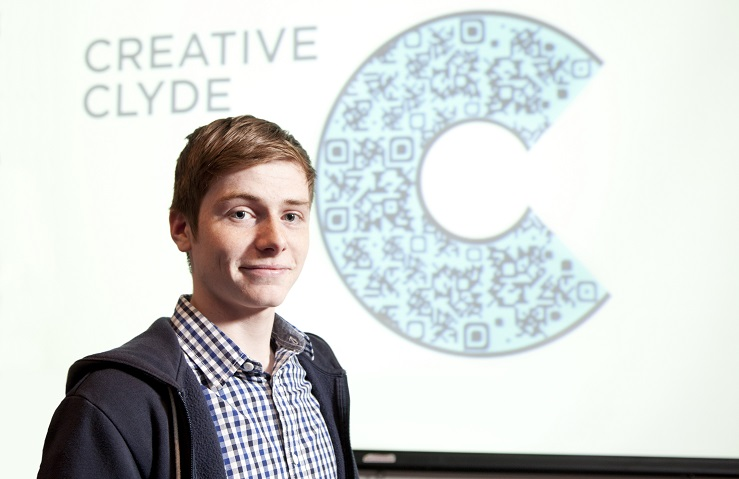 Kyle Morrison and his creative clyde logo design