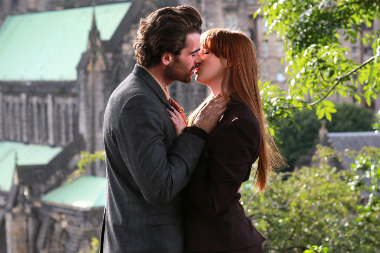 karen gillan and stanley weber in not another happy ending