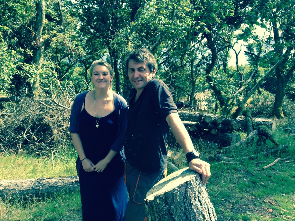 Nikki and Rob at Kilfinan Community Forest