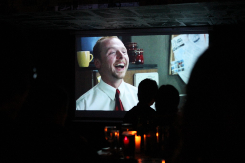 A screening of Shaun of the dead in a more casual location - a pub!
