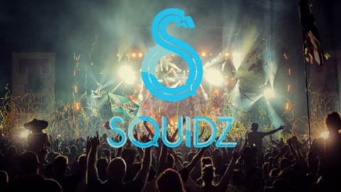 Squidz logo and crowd